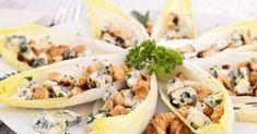Recette de Feuilles d'endives au roquefort et aux noix. Facile et rapide à réaliser, goûteuse et diététique. Ingrédients, préparation et recettes associées.