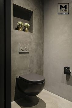 House in hengelo: bathroom by molitli interior designers - Here you will find all photos with living ideas. Industrial Toilets, Industrial Bathroom, Modern Bathroom, Contemporary Bathrooms, Small Toilet Room, Guest Toilet, Bathroom Design Luxury, Bathroom Design Small, Small Bathrooms