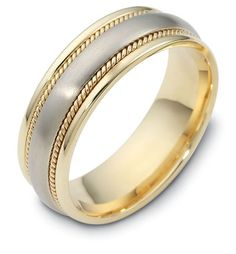Beautiful braided and cable Dora wedding band. Choose the colors and metals you want on your ring.  Style 2358 For locations: http://dorarings.com/stores/