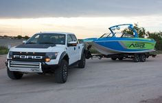 Ford Raptor + Tige ASR = AWESOME Tige Boats: A Premier Wakesurf and Wakeboard Boat Company