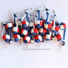 Bulk Volleyball Keychain Gift for Team Paracord by MyLittleAthlete