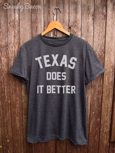 This Texas does it Better Tshirt is made of premium quality ring spun cotton for a lovely quality soft feel and casual fit. All our shirts are DTG (direct to garment) printed to ensure the durability of the print and give a long lasting and vibrant finish to all our designs.