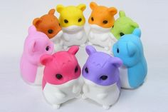 scary hamster erasers