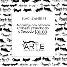 Que te parece lucir hermosa este fin de semana con nuestro paquete BLACK&WHITE  #1 y deja deslumbrados a todos ¡Reserva tu cita! #Promociones #Belleza #Mujeres #Maquillaje #Color #Cabello