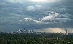 Texas weather. Storm over Houston.  Photo by Stefani Twyford.