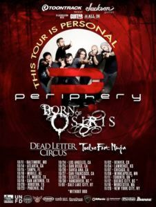Win a pair of tickets to see Periphery, Born Of Osiris, Dead Letter Circus and Twelve Foot Ninja at Gramercy in NYC Fl Ga, Hard Rock Music, Jackson Guitars, Word F, Concert Tickets, Life Is Hard, Bring It On, Nyc, Tours