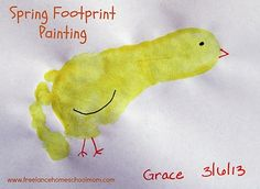 Fun and easy spring craft for young children.