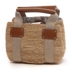トプカピ TOPKAPI ラフィア・イタリアテープ・ミニトートバッグ(ベージュ) -「買ってから選ぶ。」靴とファッションの通販サイト ロコンド