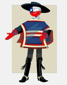 Chile [Countryhumans] by LuluDig on DeviantArt Mundo Comic, Country Art, South Park, Studio Ghibli, Wattpad, Hetalia, Cool Art, Disney Characters, Fictional Characters