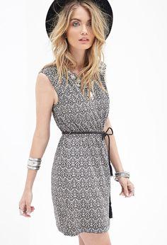 Fan Print A-Line Dress | Forever 21 Canada