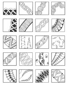 Borders and banners Doodles Zentangles, Tangle Doodle, Zentangle Drawings, Zen Doodle, Doodle Drawings, Doodle Art, Doodle Patterns, Doodle Designs, Zentangle Patterns