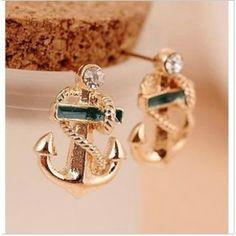 Designer Handsome Navy Style Anchor Earrings for Female
