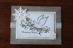 hand stamped cards | First Hand Stamped Christmas Card Received - Stamping With Kristen