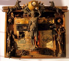 New Art Assemblage 'Indian Trader' by Michael Wilson.2016 www.assemblageartists.wordpress.com