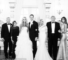 Family affair: Newlywed Lara Yunaska has posted a photo from her wedding to Eric Trump las...