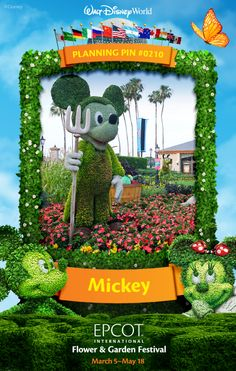 Walt Disney World Planning Pins: Mickey Mouse Topiary
