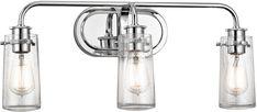 Kichler 45459CH Braelyn Modern Chrome 3-Light Lighting For Bathroom - KIC-45459CH