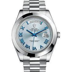 #Rolex Day-Date II Platinum #Watch (Ice Blue)