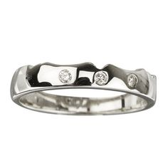 Diamond Wedding Band 18K White Gold (Fits S2503 Claddagh)-Irish Made  Price : $1,369.95 http://www.biddymurphy.com/Diamond-Wedding-White-Claddagh--Irish/dp/B00JQKWVRU