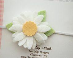 Diadema flor de bebé flor fieltro diadema cinta por MyMondaysChild