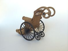 MADE TO ORDER Miniature Wicker Wheelchair for by Wickerville