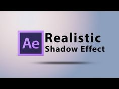 Create a Realistic Shadow Text Effect Intro in After Effects CS6 - YouTube