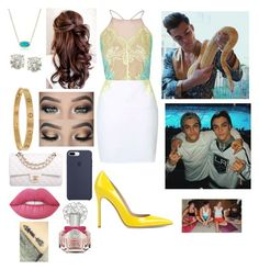 """""""TCAS"""" by haleymbrown on Polyvore featuring Gianvito Rossi, Cartier, Kendra Scott, Auriya, Chanel, Lime Crime, Vince Camuto and Dolan"""