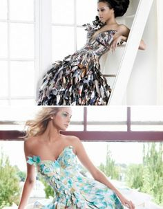 gorgeous dresses made from recycled paper!