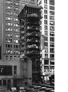 elevator garage in Chicago. 1936. Photo by John Gutmann