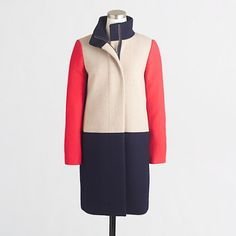 Jcrew Factorty colorblock coat http://bit.ly/1tiwB2g  #winter #fall #fashion #colorblock #coat