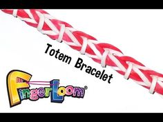 Finger Loom™ Totem Bracelet by Rainbow Loom Rainbow Loom Tutorials, Rainbow Loom Patterns, Rainbow Loom Creations, Loom Band Bracelets, Rubber Band Bracelet, Rainbow Loom Bracelets, Loom Band Patterns, Loom Bracelet Patterns, Rubber Band Crafts