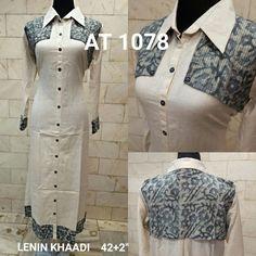 96a1c8ecc Fabvastra s Latest Designer Khaadi summer Kurti ! Price   1650 AT 1078 IN  COTTON LENIN KHAADI