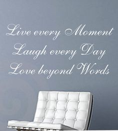 Live Laugh Love Quote Wall Decal Sticker Teen by STICKMEDECALS, $18.00