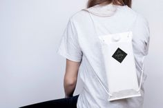 This drinks carton-style backpack by Kingston University graduate Magdalena Huber is designed to help music festival-goers avoid long bar queues. Kingston University, University Graduate, Packaging Design Inspiration, Cute Designs, Design Trends, Fashion Backpack, Chef Jackets, Backpacks, T Shirts For Women