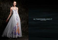 Abiti da sposa 2014 collezione abiti da sposa colorati dipinti a mano ALTAMODAMILANO.IT corso venezia 29 milano TEL 0276013113