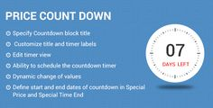 awesome Worth countdown Magneto2 extension (Magento Extensions)