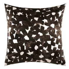 kate spade new york Inky Floral Square Throw Pillow in Black
