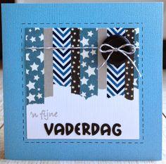 LindaCrea: Washi Tape Madness - 'n Fijne Vaderdag - - Washi Tape Diy, Masking Tape, Paper Cards, Diy Cards, Chrismas Cards, Tapas, Masculine Cards, Love Cards, Cardmaking