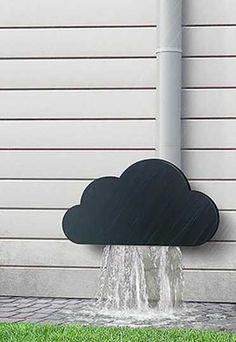 9. Esta decoración para los desagües fluviales.