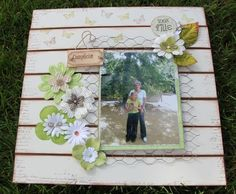 I would change this up without the chicken wire.  Would love this with a picture of me and my mom.