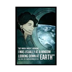 Sally Ride - Lynx Art Collection Space Posters