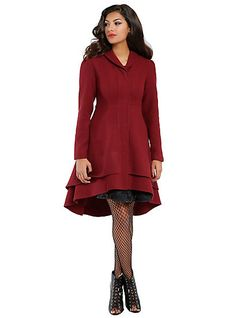 Burgundy Hi-Lo Girls CoatBurgundy Hi-Lo Girls Coat, http://www.hottopic.com/product/burgundy-hi-lo-girls-coat/10434470.html?cgid=girls-outerwear-jackets#start=13