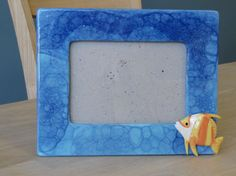 Sea Lover's Bubble Picture Frame for a 4x6 photo by EarthArtsofLB, $38.00