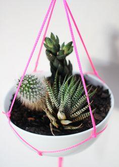 DIY: neon planter