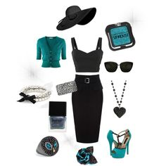 Turquoise, created by ginniemontoya on Polyvore