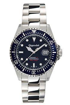 {(>_<)}  Gigandet SEA GROUND – montre sport plongée homme/femme Automatique avec cadran bleu – G2-009