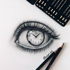 Pin by joana dermenjieva on art in 2019 drawings, eye sketch, art sketches. Clock Drawings, Cool Art Drawings, Pencil Art Drawings, Art Drawings Sketches, Eye Drawings, Cool Drawings Tumblr, Eye Pencil Drawing, Dark Drawings, Graphite Drawings