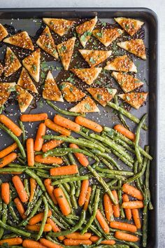 Sheet Pan Baked Tofu and Veggies- this easy sheet pan dinner is simple to make and a healthy vegan dinner. Tofu Dinner Recipes, Best Tofu Recipes, Vegan Recipes Plant Based, Delicious Vegan Recipes, Vegan Dinners, Summer Recipes, Meal Recipes, Healthy Dinners, Free Recipes