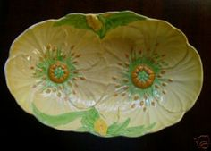 Carlton Ware Yellow Buttercup Double Oval Bowl - 1937