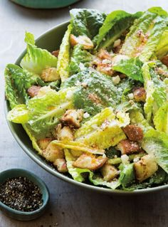 Chipotle Caesar Salad | In this spicy riff on the traditional Caesar salad, you cancontrol the amount of heat you want by adding more or less of the chipotle chile.